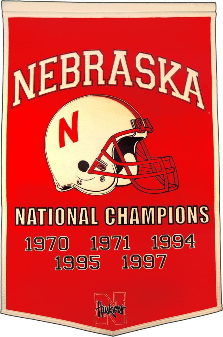 Nebraska Cornhuskers Football National Champions Banner in