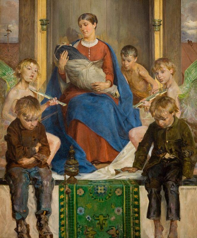 Jacek Malczewski, Madonna z dziećmi, 1897 r.