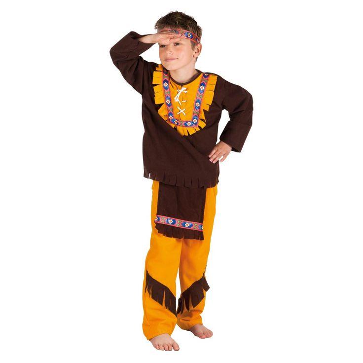 Afmeting: geschikt voor kinderen van 7 – 9 jaar - Kinderkostuum Indiaan Grote Beer M
