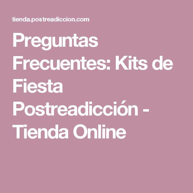 Preguntas Frecuentes: Kits de Fiesta Postreadicción - Tienda Online