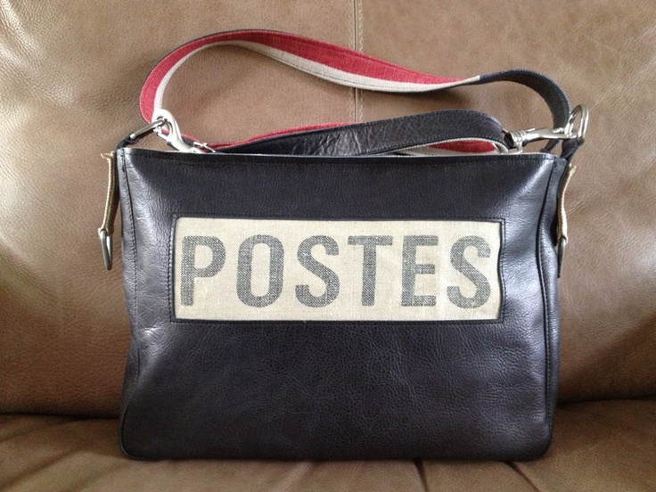 A combination of old Dutch postbag and leather