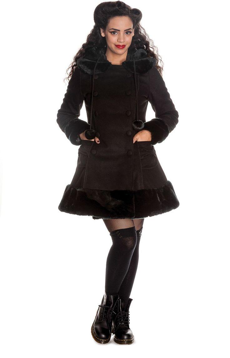 Manteau femme noir Sarah Jane - Hell Bunny