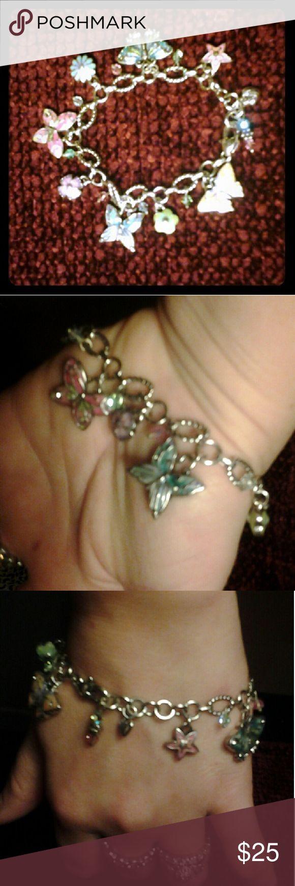 Selling this Brighton Butterfly Charm Bracelet on Poshmark! My username is: shoptiludrop5. #shopmycloset #poshmark #fashion #shopping #style #forsale #Brighton  #Jewelry