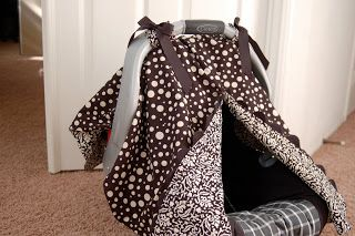 Finally!  A blog with instructions on how to add the front opening on a DIY carseat canopy!