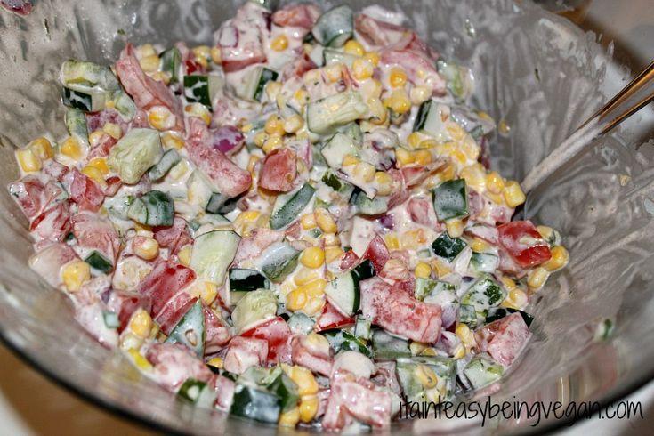 Vegan Fresh Vegetable Salad