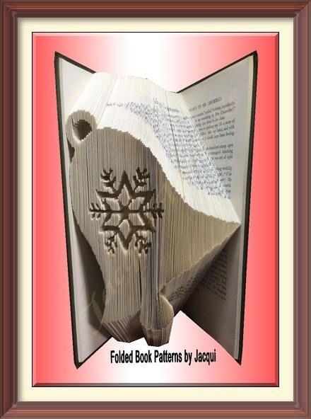 447. Book Folding Pattern - Christmas - Bell - Snowflake by JHBookFoldPatterns on Etsy