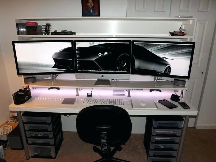 Your Typical Ikea Battlestation Album On Imgur Home Office Setup Custom Computer Desk Computer Desk Setup