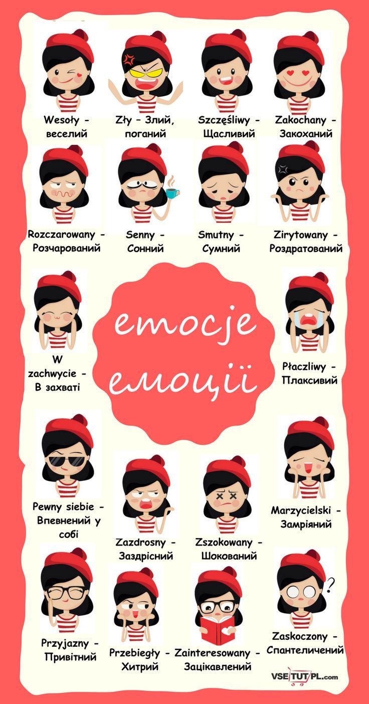 емоції у польській мові.БЕЗКОШТОВНІ уроки польської мови ОНЛАЙН на сайті http://vsetutpl.com/  #poland #emotions #polish #emoji #language #польськамова #польский #уроки #vsetutpl