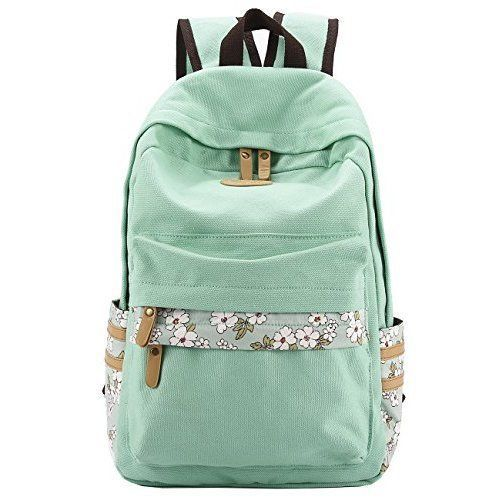 Casual Backpack School Bag Travel Daypack Canvas Laptop Books Lightweight Girls #CasualBackpackSchoolBag