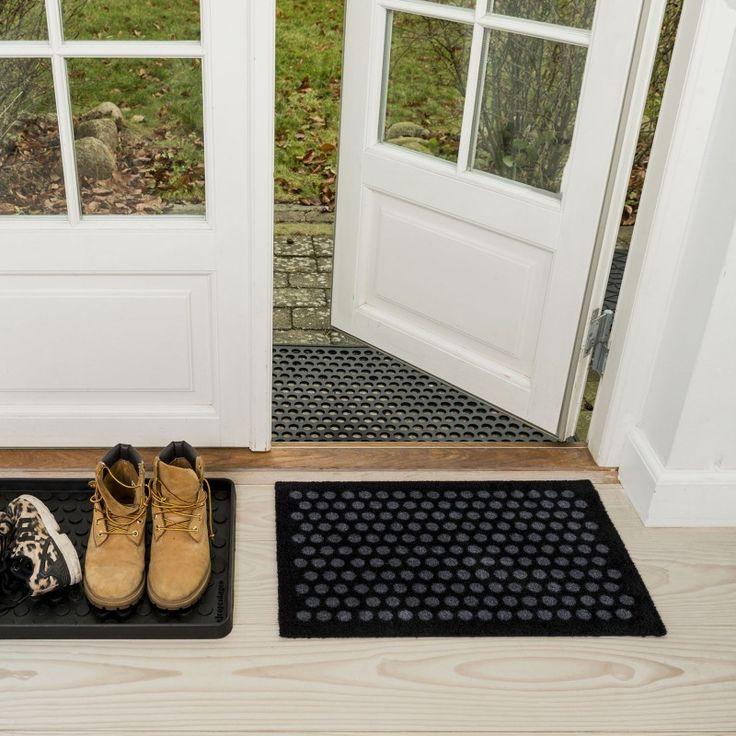 MONOQI | 40x60 Dot Fußmatte - Grau/Sw