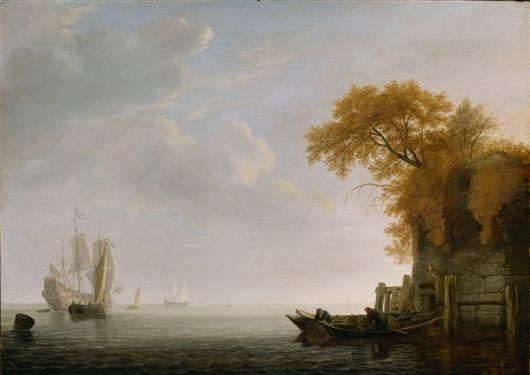 Simon de Vlieger - A Calm Sea 1642