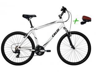 Bicicleta Caloi Sport Comfort Aro 26 21 Marchas - Câmbio Shimano Freio V-brake + Ciclo Faixa Virtual