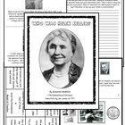 22 pages of activites that will definitely make learning about Helen Keller more interactive than just reading a book to the class!- There are se...