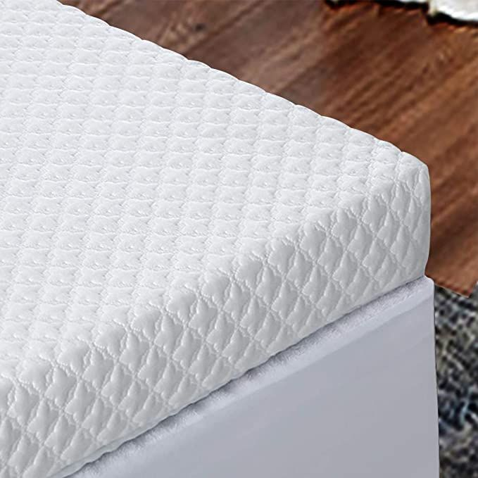 Ingalik 3 Inch Memory Foam Mattress Topper King Size Bed Topper With Bamboo Fiber Mattr Memory Foam Mattress Topper Memory Foam Mattress Pad Foam Mattress Pad
