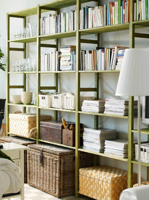 best idea from these...the frame made out of brass with wooden shelves...way out of my price range but it would be oh so gorgeous!!