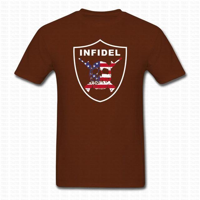 I Am The INFIDEl T-Shirt American Sniper War Veteran Punisher Shirt