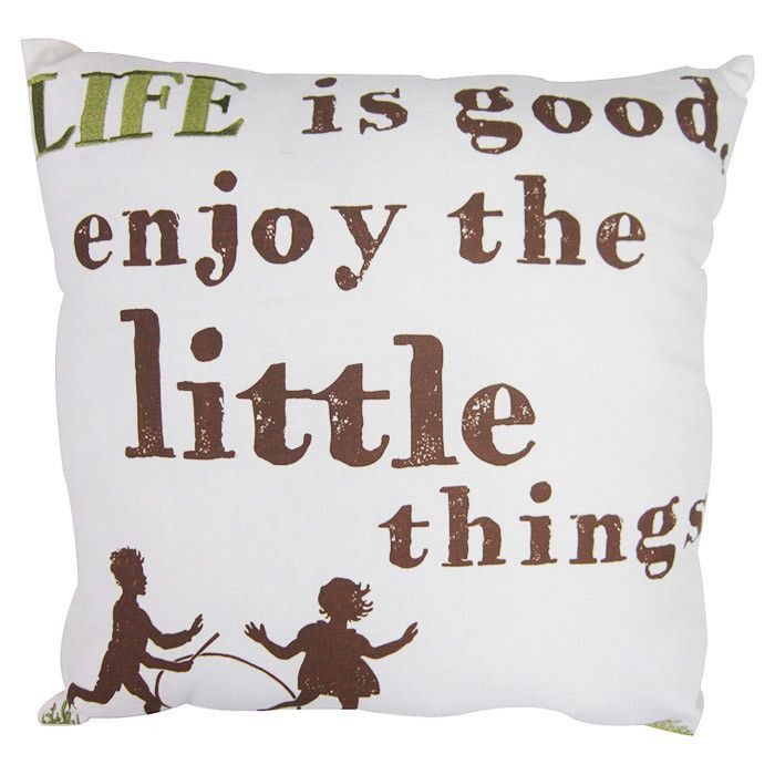 Life Is Good Enjoy The Little Things Pillow What A Good Reminder In 2020 Cotton Throw Pillow Throw Pillows Life Is Good