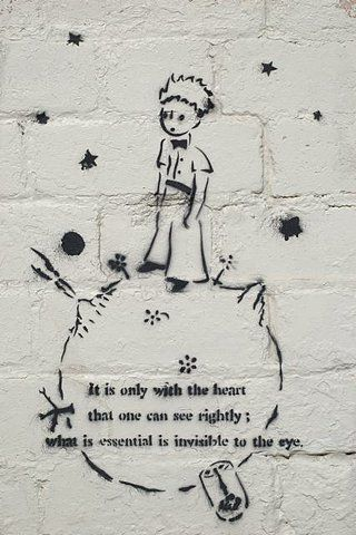 <3Petit Prince, Heart, Inspiration, The Little Prince, Quotes, The Small, Street Art, Children Book, Streetart