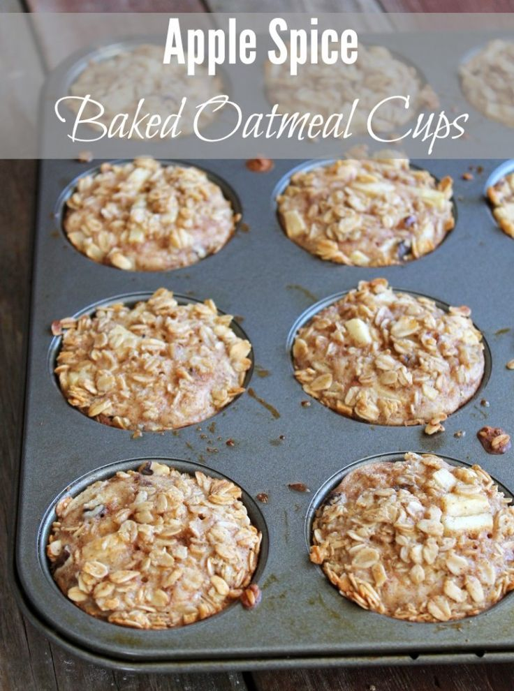 Apple Spice Baked Oatmeal Cups