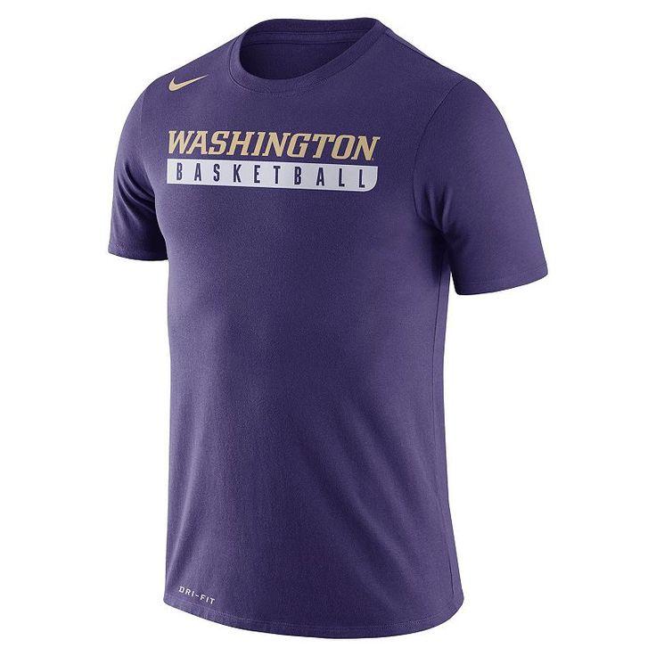 Men's Nike Washington Huskies Basketball Practice Dri-FIT Tee, Purple