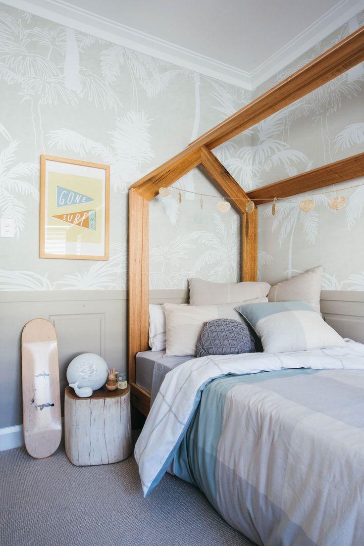 Loughlin Furniture Kids 'house' timber bed. Kyal & Kara Long Jetty renovation