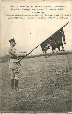 WW1 , Flag of 329 ème RI after battles.