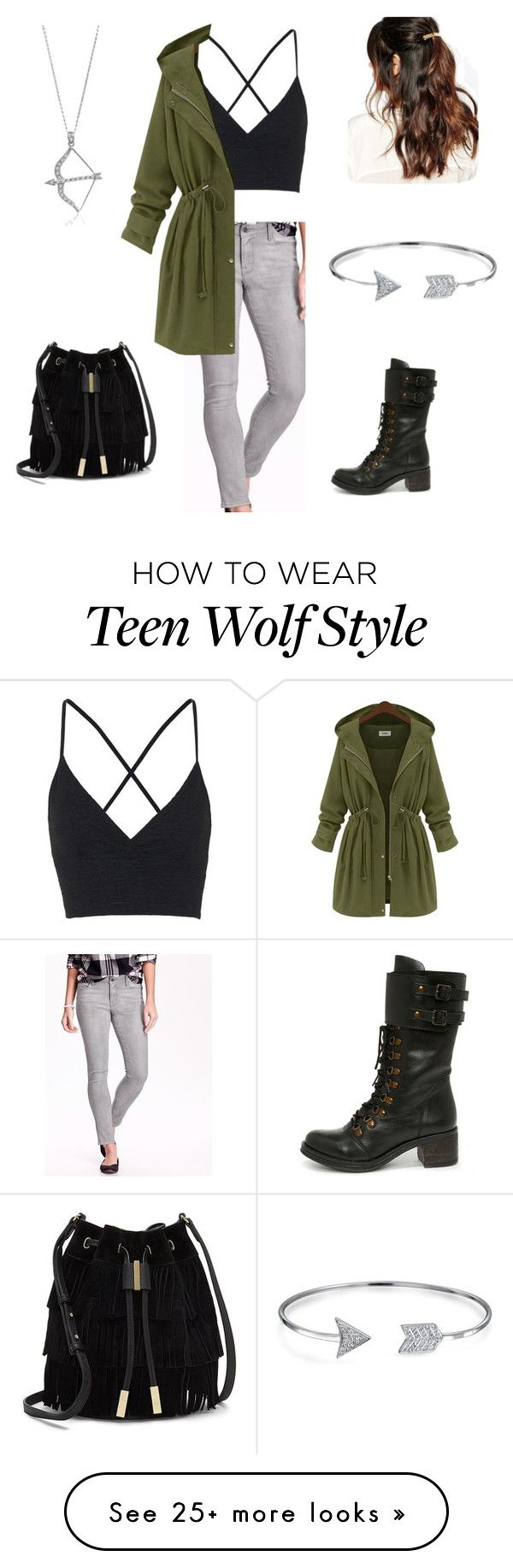 """Allison Argent Teen Wolf inspired outfit"" by kassid2020 on Polyvore featuring мода, Old Navy, Topshop, Report, Vince Camuto, Suzywan DELUXE, Bling Jewelry и BERRICLE"