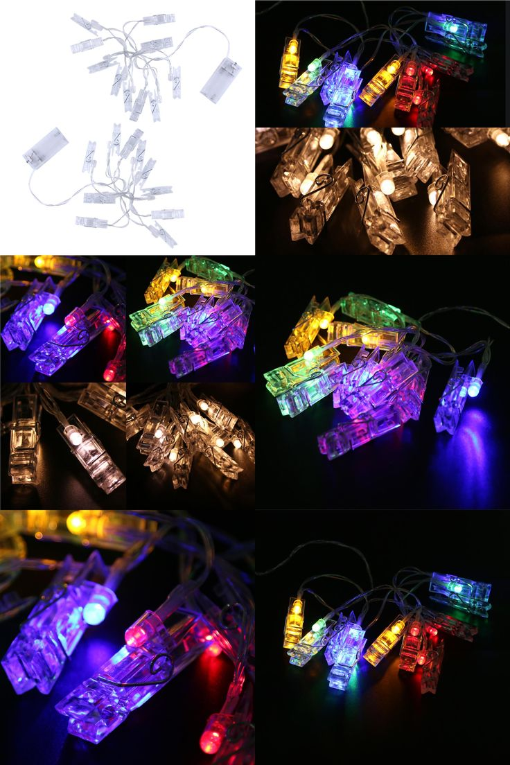 [Visit to Buy] 1M Mini 10 led clip string lights battery Christmas lights new year party wedding home decoration fairy lights for living room  #Advertisement