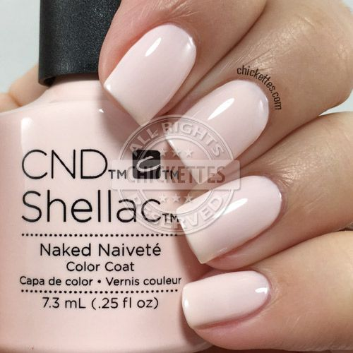 nails.quenalbertini: CND Shellac Naken Naivete | Chickettes