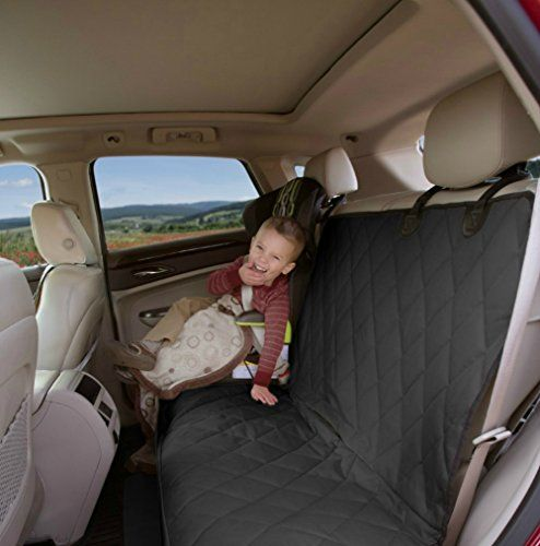 VersaVia Car Seat Protector Mat Covers Entire Rear Seat, Black
