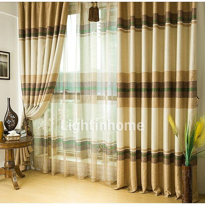 Brown Striped Overstock Living Room Curtains Ideas On Sale Livingroom