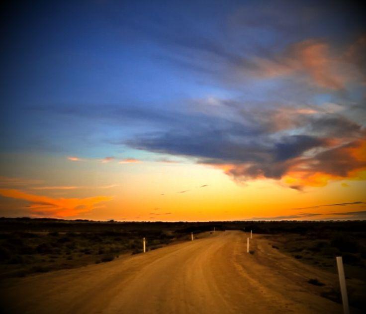 route, road, sunset, Australia