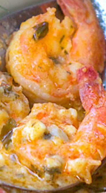 Greek-Style Garlicky Shrimp with Feta
