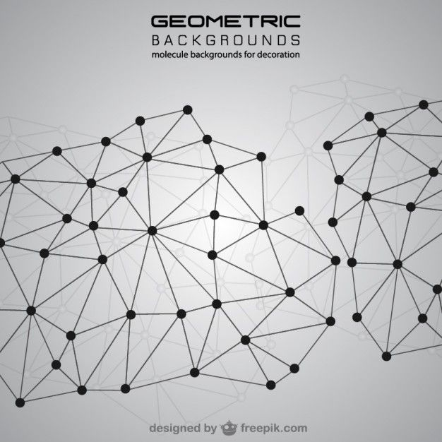 Abstract molecules background Free Vector