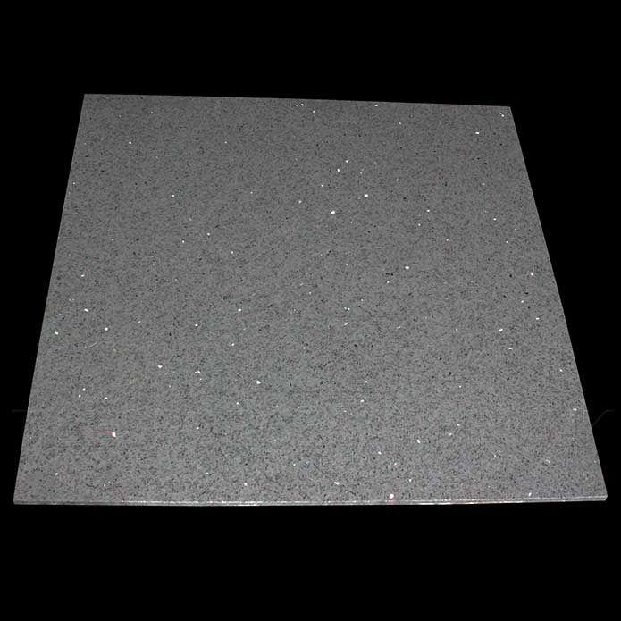 Zultanite Grey Quartz Tiles - Sparkly Floor Tiles | Tilesporcelain