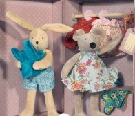 Moulin Roty - Little Wardrobe Suitcase Dolls, by Moulin Roty