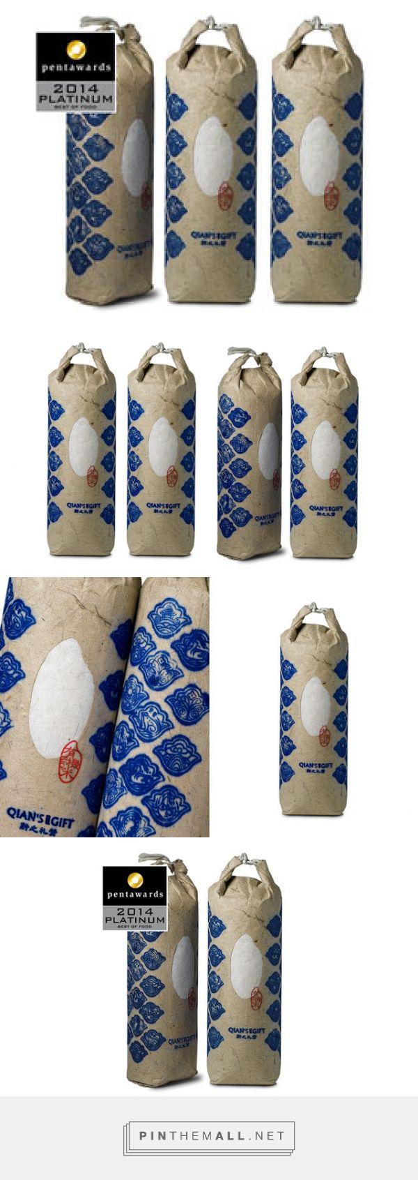 Qian`s #Gift #Organic #Rice #packaging designed by Pesign Design - http://www.packagingoftheworld.com/2015/07/qians-gift-organic-rice.html