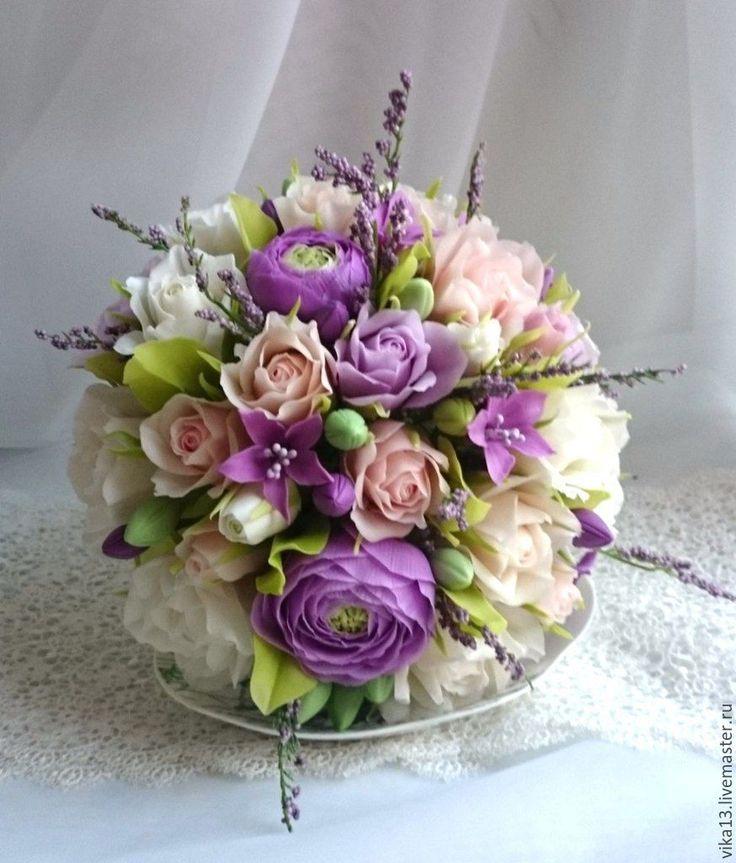 """Купить Чашечка """"Прованс в чашечке"""" - сиреневый, прованс, бежевый, цветок, цветы ручной работы"""