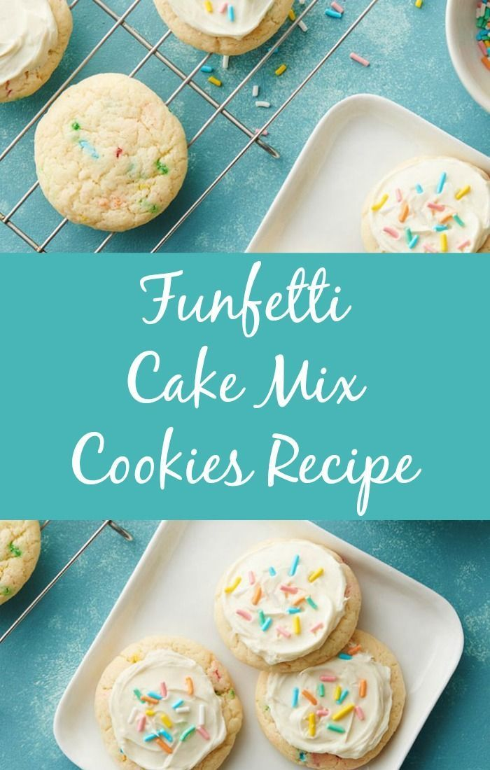 Funfetti Cake Mix Cookies Recipe - these are some of my favorite cookies, and they are super easy to make!