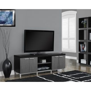 Black and Grey Hollow-core 60-inch TV Console | Overstock.com Shopping - The Best Deals on Entertainment Centers