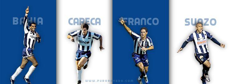 Goleadores de Rayados, Bahia, Careca, Franco y Suazo http://www.purorayado.com/