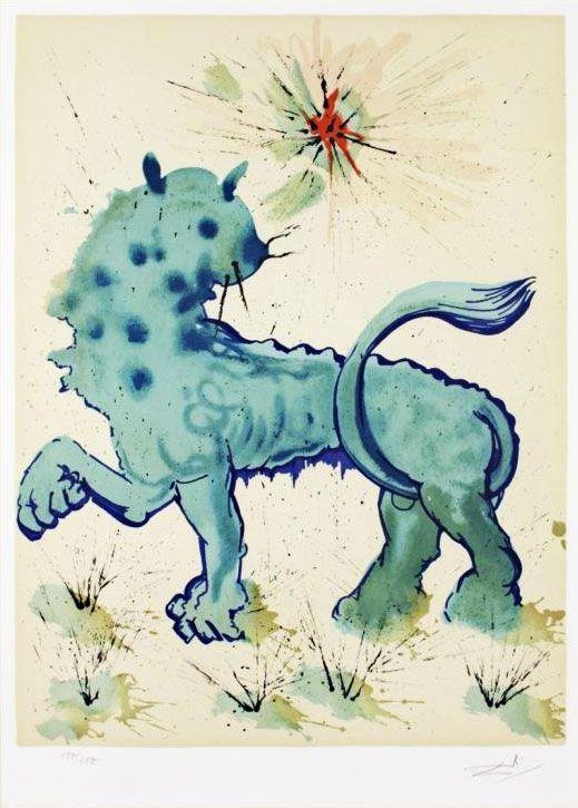 les-12-signes-du-zodiaque-par-salvador-dali-lion Les signes du zodiaque par Salvador Dali