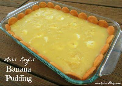 Duck Dynasty recipes--Miss Kay's banana pudding