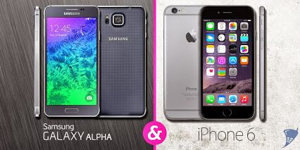 Hands-on: Samsung Galaxy Alpha & Apple iPhone 6. Wat zijn de verschillen en overeenkomsten tussen beide smartphones?