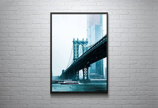 Start the new year off the right way, add one of my latest additions to my shop to your wall today!: Manhattan Bridge in a New York City Snow Storm on the East River http://etsy.me/2CqVoem #housewares #homedecor #newyorkcity #poster #frame #photography #art #citylife