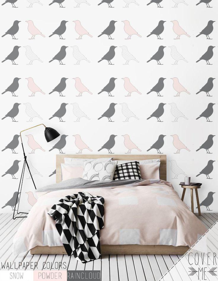 Motif oiseau peler et coller autocollant amovible en vinyle papier peint - CM033   Chambre ...