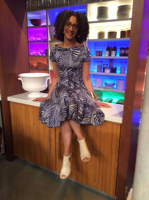 The Official Site for Carla Hall - Co-Host of ABCs The Chew Zebra Print Dress  - Really Great Things (Address: 284 Columbus Ave # A, New York, NY 10023