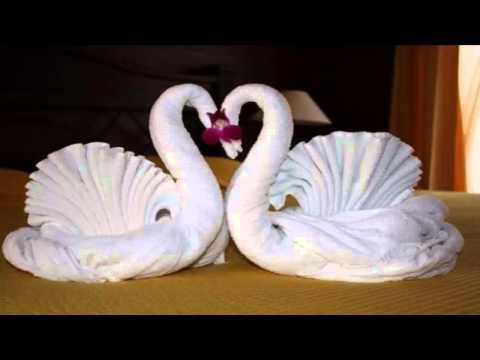 how to make towel art towel origami swans towel folding towel animals