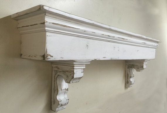 Hello and thank you for stopping by. By popular request, I have added a large French Country Mantle shelf with matching corbels. This one is