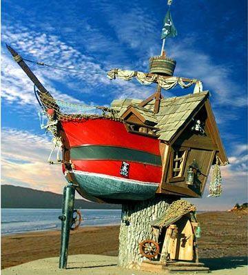 Treehouse Treasury: Pirates, Pirate Ships, Unusual Homes, Tree Houses, Trees, Unusual Houses, Treehouses